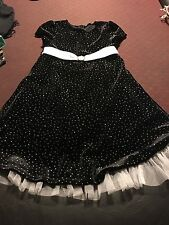 Bonnie Jean Black With silver specks sparkles - Girls Size 5