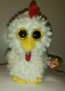 Ty Beanie Boos - HENNIE the Chicken (6 Inch)(Exclusive) NEW - MINT with MINT TAG