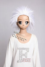 W-319 Bleach Toshiro Hitsugaya Cosplay Parrucca Wig calore fisso bianco white 33cm