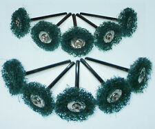 """10 3/4"""" Green Scrubby Brushes 1/8 shank Bits for Dremel's or Rotary Tools"""