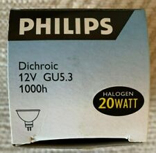 5 x Philips 20W Dichrioc Halogen Reflector Spot Lamp GU4 12V 35.3mm 05sh 2842812
