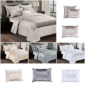 Decorative Quilted Bedspread 3 Piece Atlanta Comforter Throw Set + Pillow shams