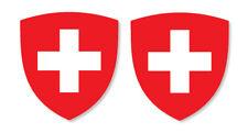 2 x suisse emblème Drapeau Vinyle Autocollants Voiture Van Camion Taxi, camion