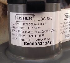 Fisher Propane Integral Two Stage Regulator R232A-Hbf w/ Pol x 12 Inch Adapter