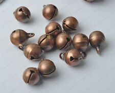 30Pcs 10MM Red bronze plated Jingle Bells Charm Beads Findings