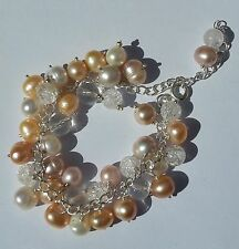 Handmade Silver Plated Natural Beaded Fine Bracelets