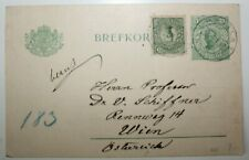 Sweden   1913   5 Ore Uprated  Rennweg Vienna Austria   Postal Card / Stationery