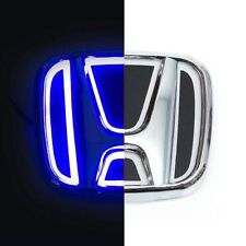 LED 5d Logo Blue Light Badge Neon Emblem for Honda ACCORD Odyssey CIVIC CR-V Fit
