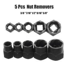 5Pcs Damaged Bolt Nut Remover 10-16mm Screwdriver Stud Extractor Socket Tool Kit