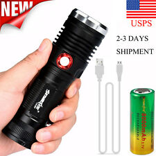 8000lm ZOOM XM-L2 U2 LED 3 Mode USB Rechargeable Flashlight Torch 26650 Battery