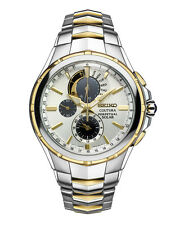 New Seiko SSC560 Coutura Solar Chronograph Two Tone Stainless Steel Men's Watch