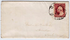 "#26A-3 Cents 1857, 59R11L, ""OSWEGO MAY 24 N. YORK."" - Burlbut, Buraboo Wisconsin"