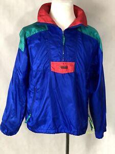 Columbia Mens Vintage 1/2 Zip Color Block Jacket Medium Radial Sleeve