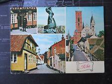 4 Views of Ribe, Denmark. Postcard 1978