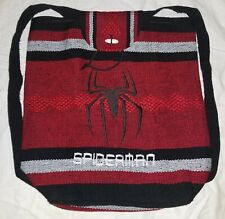Woven Spiderman Backpack - Handmade Embroidered Tote, Bookbag. FREE SHIPPING