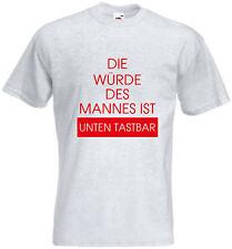 T-Shirt - Würde des Mannes - Vaitani - Lustige Sprüche - Shirt - Herren - Männer