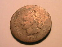1866 Indian Head Penny (AG) About Good Smooth Original Bronze Small Cent US Coin