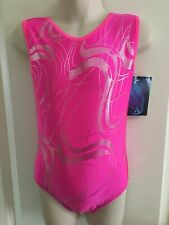 "NEW Pink Sparkle Leotard size 26"" age 5-6 by Zodiac Leos"