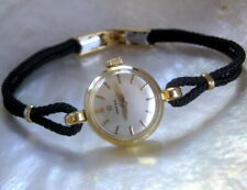 Ladies 1963 Omega 18K SOLID GOLD Vintage Swiss Made 17j Cocktail Dress Watch A++