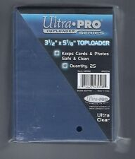 "(25) Ultra Pro 3 1/2"" x 5 1/8"" Toploaders  Topload Card Holder (Index Postcards)"