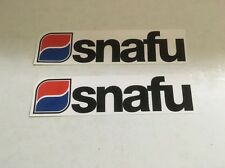 2 Genuine SNAFU BMX FRAME STICKERS  DECALS