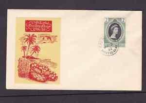 Montserrat 1953 FDC 1st day cover QE II coronation Hodson Add on Cachet
