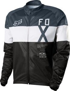 Fox Livewire Shield Windblock Long Sleeve Cycling Jersey - Black/White