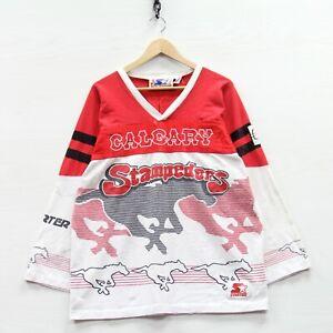 Vintage Calgary Stampeders Starter Sweatshirt Size XL Red 80s CFL