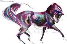 Arabian Horse Eagle Heart Feather Art Painting Print Jill Claire Original