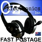 Headset Headphone Microphone for PC MAC SKYPE NEW BLACK & SILVER Live Messenger