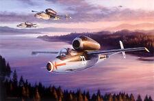 N Trudgian print Jet Interceptors signed by Luftwaffe Ace pilot Herbert Ihlefeld
