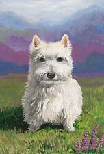 LE #1 4X6 POSTCARD RYTA WEST HIGHLAND TERRIER WESTIE LANDSCAPE REAL ART PORTRAIT