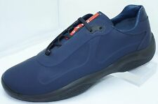 New Prada Men's Blue Shoes Tennis Size 10 Rubber Sneakers Calzature Uomo