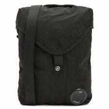 CP COMPANY Crossbody Lens Messenger shoulder BAG in nylon satin BLACK