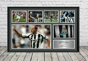 Alan Shearer Signed Photo Newcastle United FC Poster Football Memorabilia