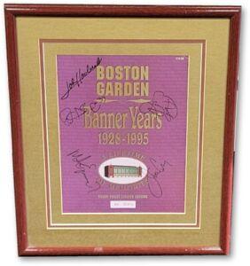 Boston Garden Multi Signed Autographed Framed Print Bird Havlicek Ewing JSA
