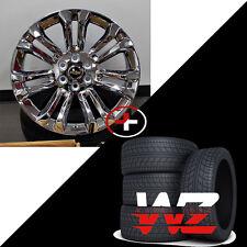 "22"" CK159 Style Chrome Wheels w Tires Fits Chevy GMC Tahoe Yukon Suburban Denali"