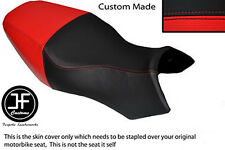 BLACK & RED VINYL CUSTOM FITS BUELL ULYSSES XB12X 1200 DUAL SEAT COVER ONLY