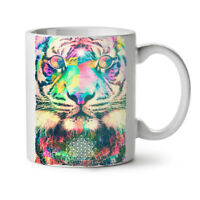 Psychedelic Tiger NEW White Tea Coffee Mug 11 oz | Wellcoda