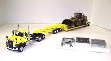 CAT CT680 Day Cab 3 axle (Yellow) 3 axle XL Lowboy w/Jeep w/CAT 966K XE Set