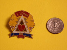 Vintage Lions Club Pin Pinback 5 M12 Winkler Morden Manitoba Canada Triangle