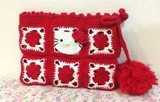 NEW Hello Kitty Handmade Women Handbag Clutch Bag Cosmetic Bag Red Color