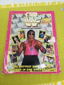 WWF MERLIN 1993 STICKER COLLECTION ALBUM - 85% Complete 90S RETRO WRESTLING