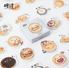 The Life of a Pancake Mini Stickers, Kawaii Funny Cute Sticker Set Scrapbooking