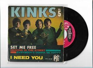 "THE KINKS  set me free vol 5""  EP FRANCE VOGUE"