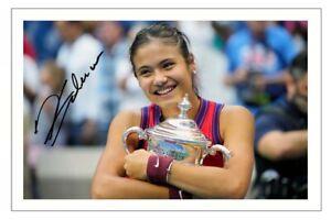 EMMA RADUCANU Signed Autograph PHOTO Fan Gift Signature Print TENNIS US Open
