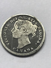 1888 Canada Silver 10 Cent VG Damage #8743