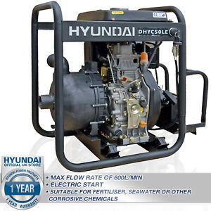 Water Pump Chemical Seawater Diesel 2 inch Electric Start POWERFUL 32,000 L/Hr