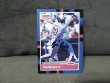 TIM RAINES 1988 DONROSS  AUTOGRAPHED CARD