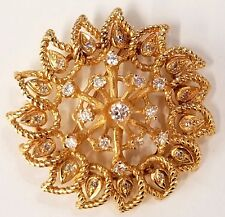Vintage Karbra 1964 14k Yellow Gold 20-30 Point Diamond Brooch Pin
